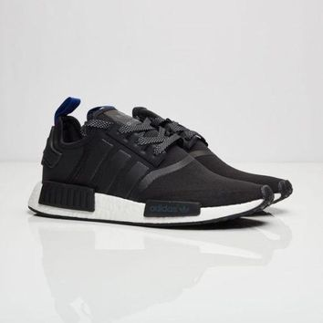 Adidas NMD_R1 Reflective Black / Blue Strap Limited Code S31515 Size 8