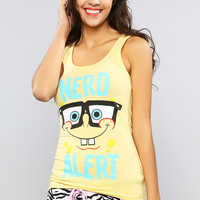 Spongebob Squarepants Nerd Graphic Tank