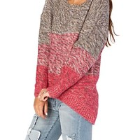 Space Dye Ombre High Low Sweater