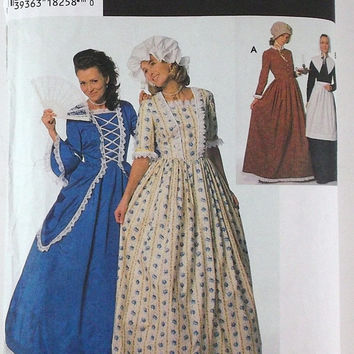 Halloween Costumes Patterns Simplicity 9713 Puritan Centennial 18th 19th Century Costumes Destash Commercial Supply