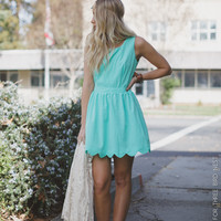 Scalloped Open-Back Mint Dress - Three Bird Nest | Women's Boho Clothing & Indie Accessories
