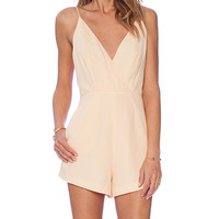 Finders Keepers All Time High Cut Out Romper in Yellow