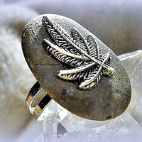 Weed Stone Ring, 420 ring, Hippie, Bohemian, Bob Marley, Marijuana, Ready to ship