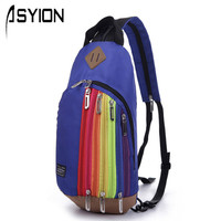 New Rainbow Women Backpack Bag Young Ladies Fashion Backpack Teenager Children Small Backpack HB08