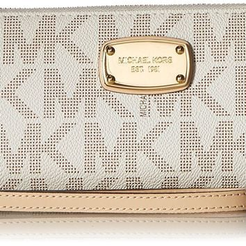 Michael Kors Women's Jet Set Zip Around Continental Wallet