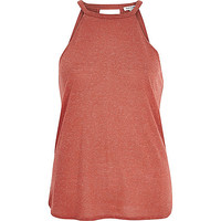 River Island Womens Orange neppy sleeveless top