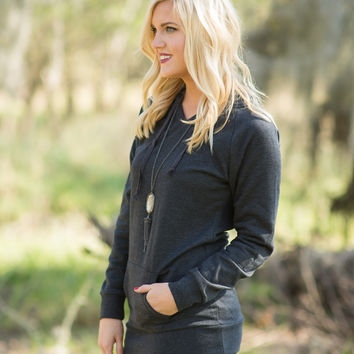 In Heavenly Fleece Hoodie - Charcoal