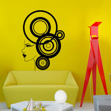 Wall Vinyl Decal Sticker Girl with Abstract Style beauty spa salon Art Design  Room Nice Picture Decor Hall Wall Chu1022