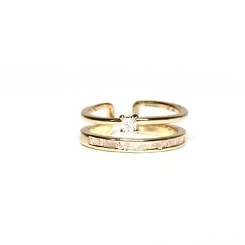 I'm With The Band Ring Stack - Gold