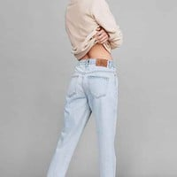 Calvin Klein For UO Cult Girlfriend Ankle Jean - Light Marble Blue