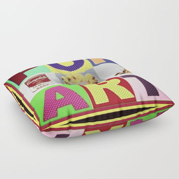 popart Floor Pillow by Kathead Tarot/David Rivera