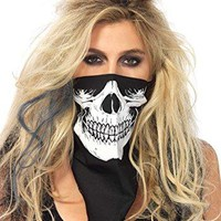 Black Skull Face Bandana for Fancy Dress and Dead Cowboy Halloween Costume