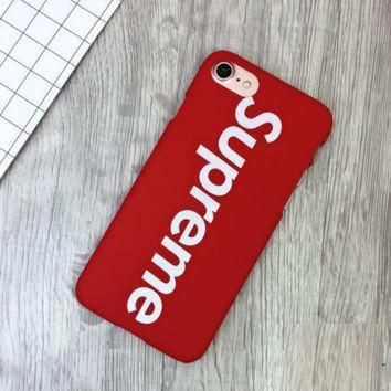 Red Supreme Print 7 7plus &6 6s Plus Cover Case