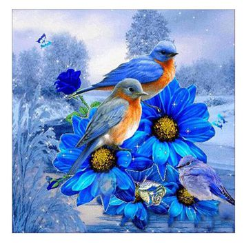 Bird Bears DIY Diamond Painting Embroidery Cross Craft Stitch Home Decor Art  living room  bedroom decoration 5D