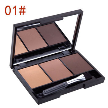 3 Colors Set Women Makeup Eyeshadow Palette Eyebrow Eye Shadow Powder Cosmetic