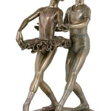 Perfect Ballet Couple Bronze Figurine - 8432