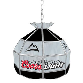 Coors Light Stained Glass Tiffany Lamp - 16 inch diameter