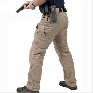 Tactical Cargo Pants Men Casual SWAT Multi-pockets Trousers Cotton Pants Military Army clothing