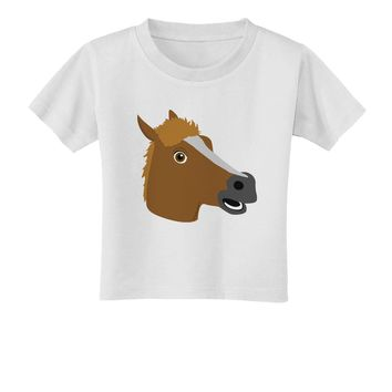 Silly Cartoon Horse Head Toddler T-Shirt by TooLoud
