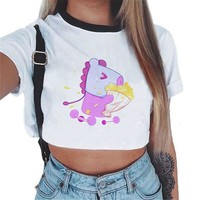 BTS Kpop Women Fashion BT21 Sweatshirts Crop Top Pullover Outwear Hip-Hop Bangtan Boys Clothes Ropa Streetwear Roupas Shirt