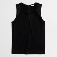 Factory embellished-neck tank top