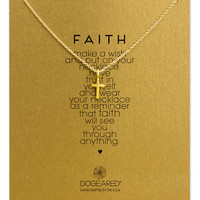 Dogeared 14K Gold Dipped Cross Pendant Necklace