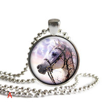 Horse Pendant     Horse LoversGift   Equestrian Jewelry Gift For Horse Lovers     4 Choices