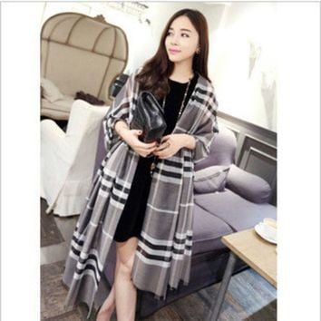 ONETOW 20164 color hot fashion luxury brands plaid cashmere shawl scarf cloak winter charm women's fashion accessories Holiday gifts