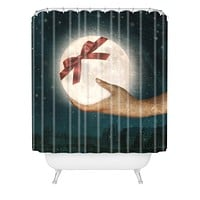 Belle13 For You The Moon Shower Curtain