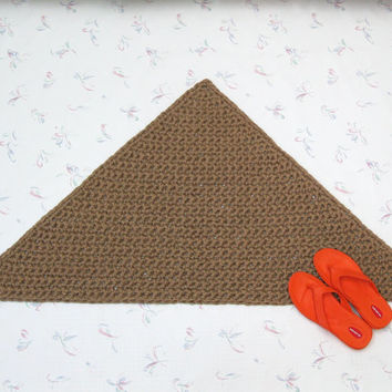 Triangular Jute Rug - Thick Corner Rug - Triangle Floor Mat - Natural Fiber Rug - Right Angle Rug - Soft Thick Mat - Burlap Mat - Pet Mat