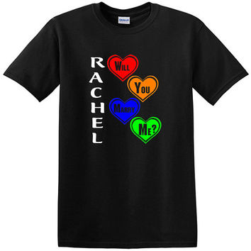 Will You Marry Me Personalized T-Shirt, Any name, customize it, say it with a t-shirt, marriage, marriage proposal, get married, valentines