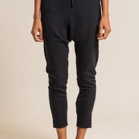 Album Di Famiglia Stretch Cotton Drop Crotch Pants in Black | Santa Fe Dry Goods