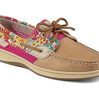 Bluefish Liberty Floral Print 2-Eye Boat Shoe
