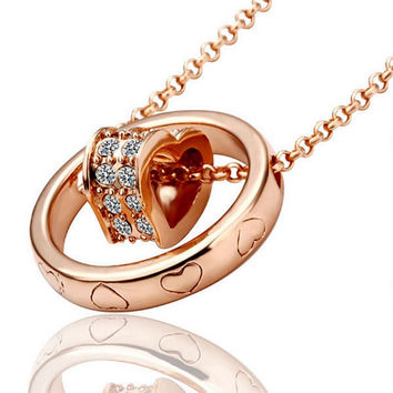 New 2016 Necklace Women jewelry 18K Gold necklaces & pendants XHPUCYWR