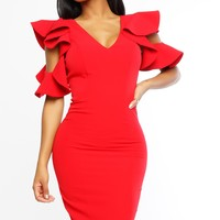 Tyra Dress - Red