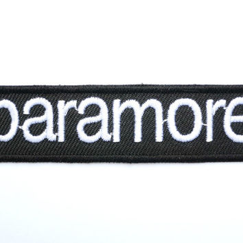 PARAMORE Rock Iron On Embroidered Patch 3.9""