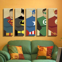 Oil Painting Canvas Super Hero Modern Wall Art