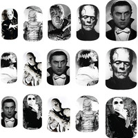 Vintage Movie Monsters - Halloween - Nail Art Decals
