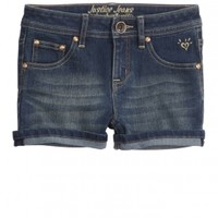 Roll Cuff Denim Shorts