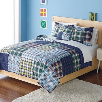 Home Classics Bennett Statements Reversible Quilt (Blue)