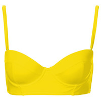 Lime Longline Bikini Top - Swimwear - Clothing - Topshop USA
