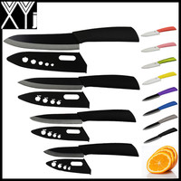 "Global quality 3"" 4"" 5"" 6"" inch ceramic knife set kitchen knives black blade"