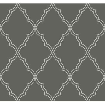 York Wallcoverings CX1227 Candice Olson Dimensional Surfaces Moroccan Lattice Sand Wallpaper