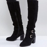 Miss KG Heeled Over The Knee Buckle Boot at asos.com