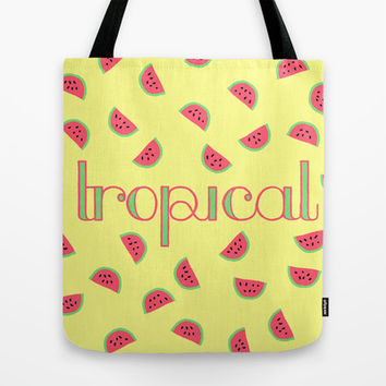 TROPICAL Tote Bag by BAMBI ONASSIS