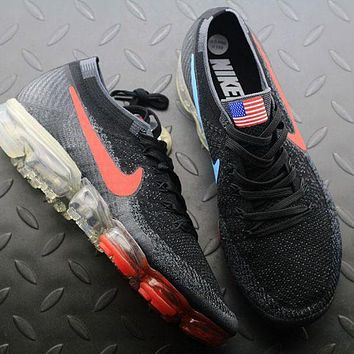 Tagre™ ONETOW Best Online Sale Nike Air VaporMax Vapor Max 2018 Flyknit Men American Flag Sport Running Shoes 849558-018