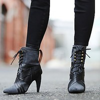Jeffrey Campbell  + Free People Womens Bray Heeled Boot