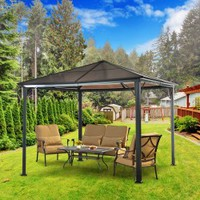 Sunjoy Birmingham 10 ft. x 10 ft. Polycarbonate Top Gazebo