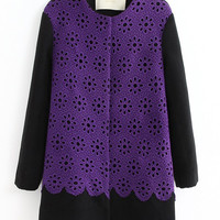 New Euroamerican Lace Embroidery Woolen Overcoat,Cheap in Wendybox.com