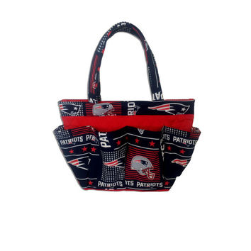 New England Patriots Bingo Bag // Craft Organizer // Makeup Organizer // Caddy // Teacher Tote // Nurse Tote